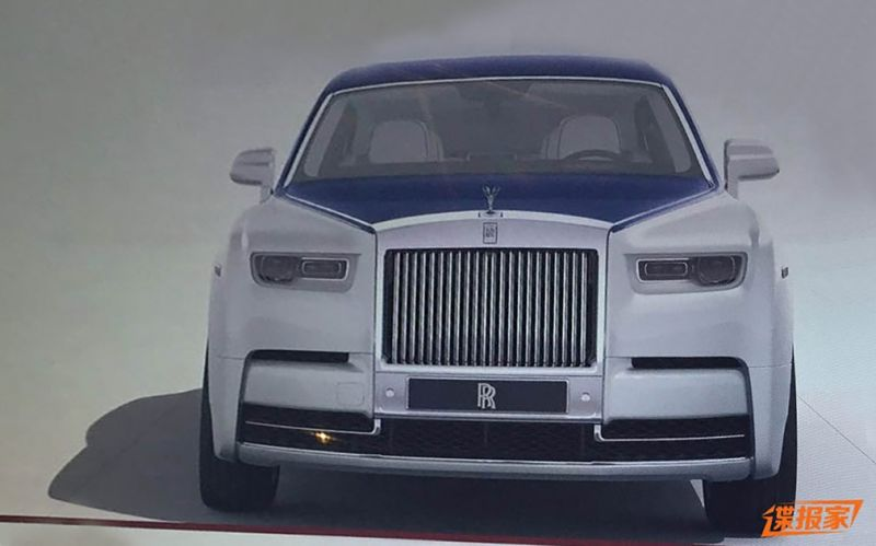 В интернете показали дизайн нового Rolls-Royce Phantom