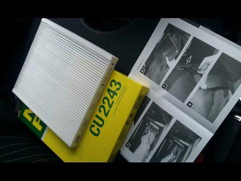 Замена салонного фильтра Opel Corsa D