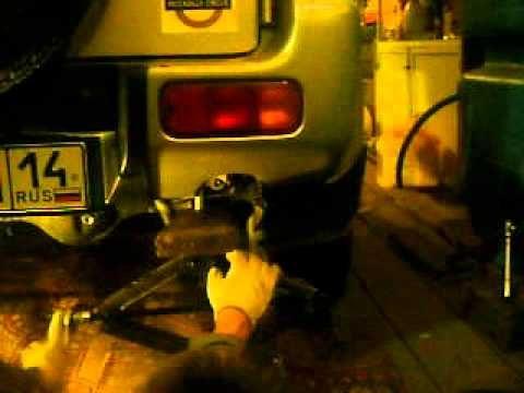 Снятие пружины Suzuki Jimny