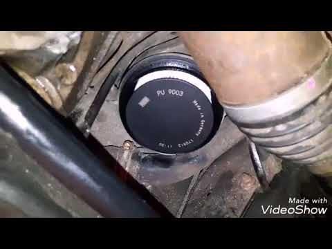 Замена топливного фильтра Volvo XC70