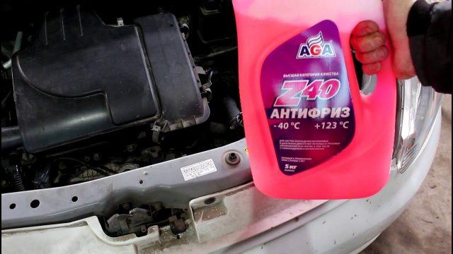 Замена антифриза Toyota Passo