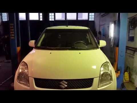Замена передней шаровой опоры Suzuki Swift