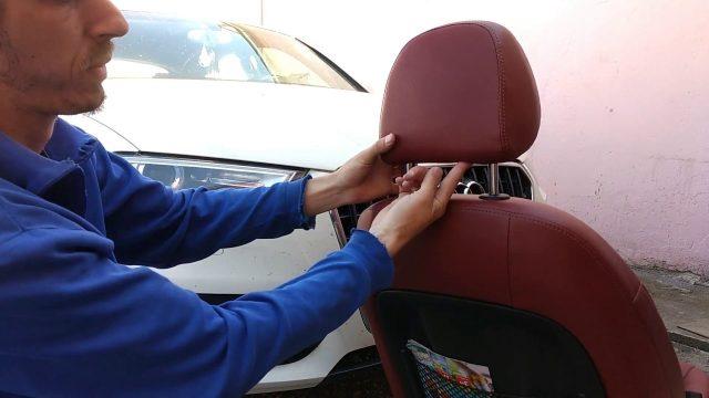 Снятие подголовника Audi Q3