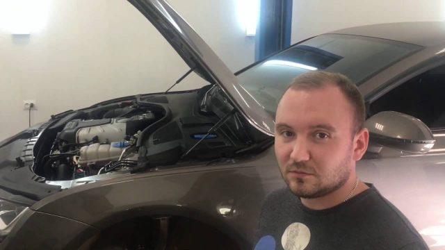 Замена передних тормозных колодок Audi A7