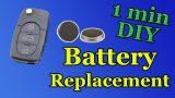 Замена батарейки в ключе Citroen C2, C3, C4