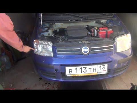 Замена лампочки передних габаритов Fiat Panda