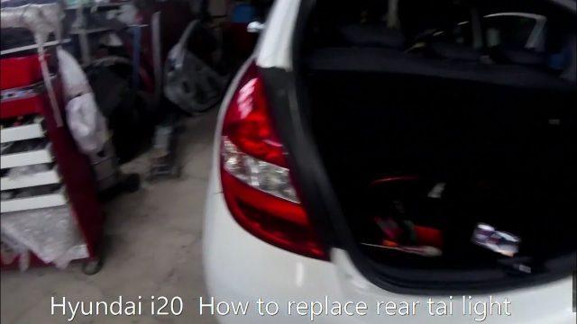 Снятие задней фары Hyundai i20