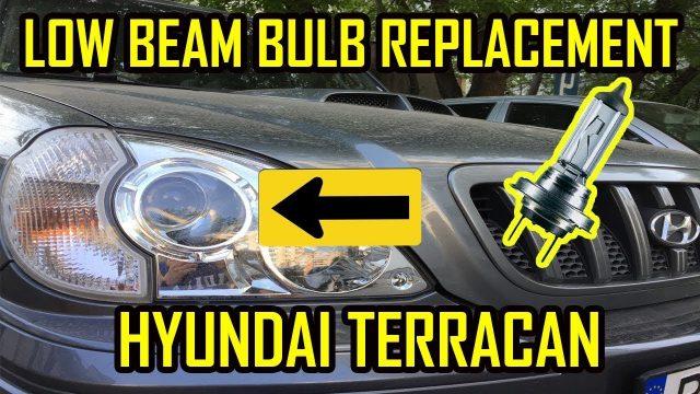 Как поменять лампочку в передней фаре Hyundai Terracan