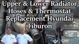 Замена шланга радиатора и термостата Hyundai Tiburon