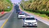Видео: Aurus Владимира Путина проехал в ОАЭ в сопровождении машин ДПС