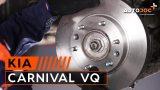 Замена передних тормозных дисков и колодок Kia Carnival