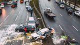 Женщина за рулем тестового Audi Q7 протаранила 12 автомобилей