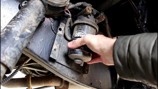 Замена топливного фильтра Land Rover Defender