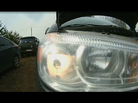 Замена ламп ближнего света Mitsubishi ASX