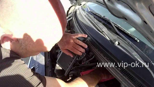 Замена воздушного фильтра Mitsubishi Colt