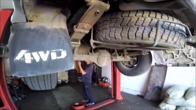 Замена масла в АКПП Mitsubishi Delica