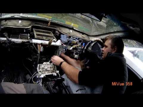 Замена радиатора отопителя Nissan AD