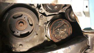 Замена ремня генератора Nissan Serena